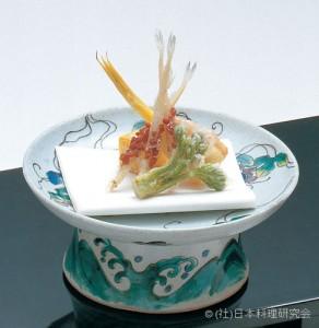 絹笠筍二見揚 白魚香煎揚