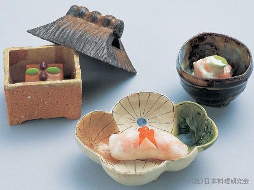南蛮海老醍醐和え 萩豆腐 秋味蕪菁すし