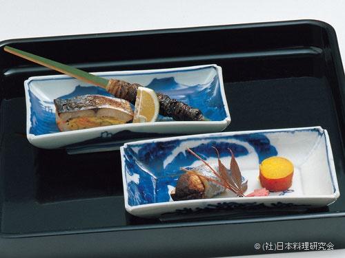 太刀魚包み焼、鰆巻繊焼、鰻のひれ巻