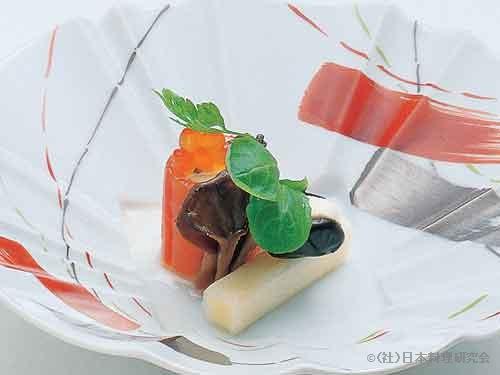 スモークサーモンムース、黒豆挟みチーズ、チーズ奉書巻