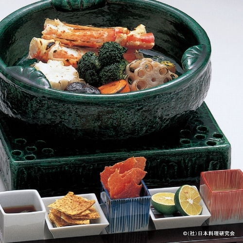焼たらば蟹、焼野菜