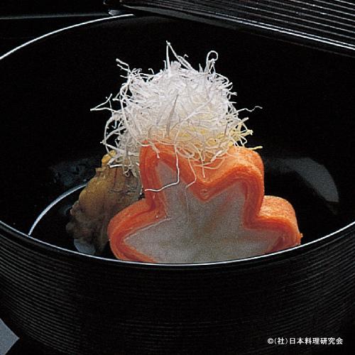 梅肉汁仕立、黄金紅葉長芋