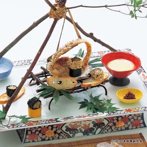 岩牡蠣チーズフォンデュ、岩牡蠣鮭とば、岩牡蠣桜肉包み