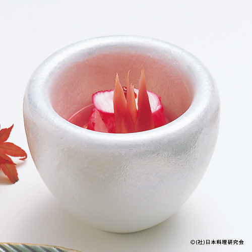 蛸焼霜造り梅酢浸し