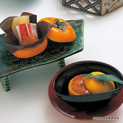 柿釜、手綱なます、柚子釜、アーモンド豆腐