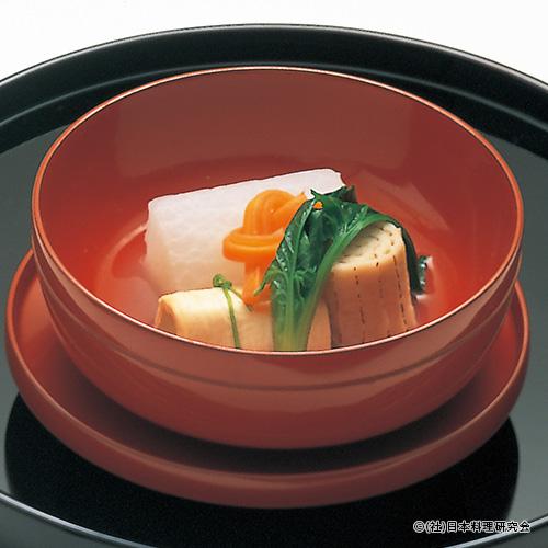 大根含め煮、焼すだれ麩、白菜東寺巻