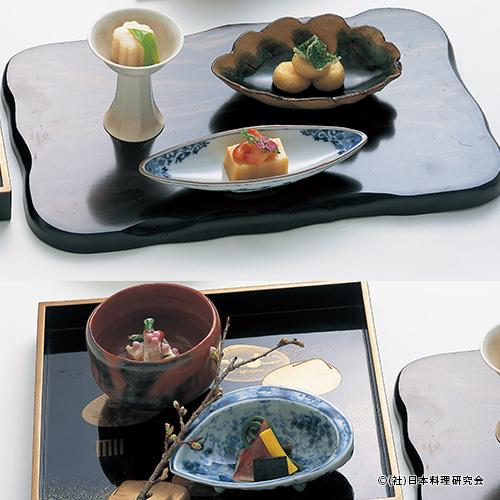 北寄貝炙り、寄せ酢味噌葱巻、竹の子餅、帆立貝北海蒸し、水松貝・楤の芽