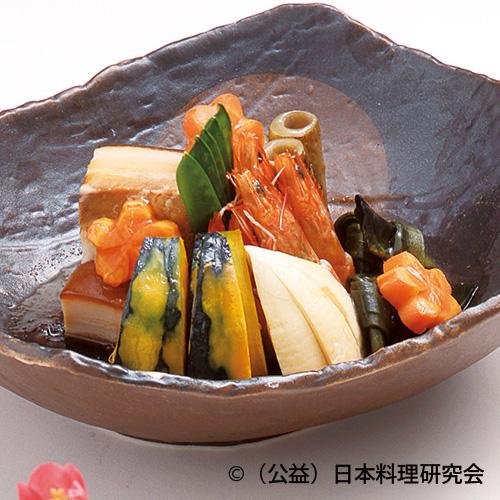 豚角煮春野菜