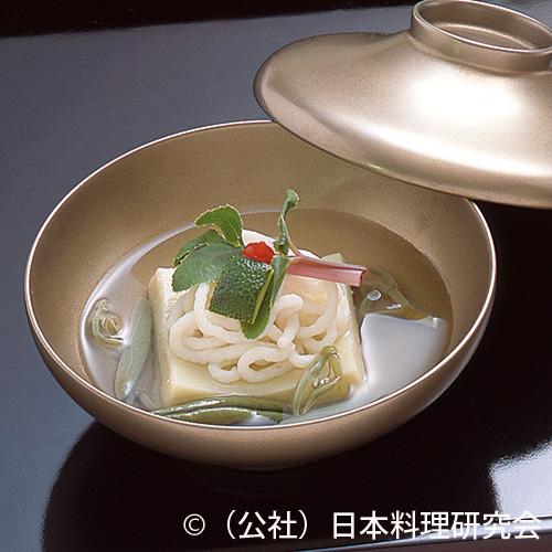 潮仕立、鱧素麺、枝豆葛寄せ