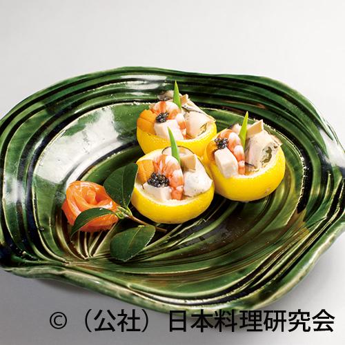 牡蠣柚子釜焼