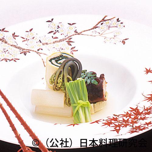 年輪筍、蛸桜煮、独活白煮