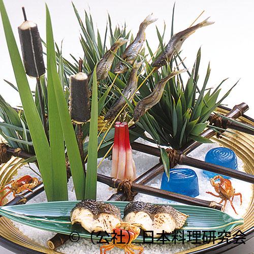 鰻蒲の穂焼、稚鮎塩焼、福子油通し焼