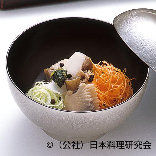 雉子スープ仕立、雉子手羽、高野豆腐オランダ