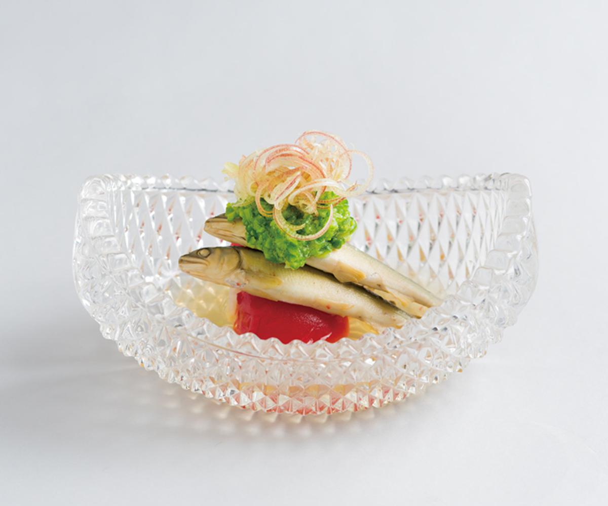 稚鮎・夏野菜酢炊き(世田谷・お料理春草)(Sample)