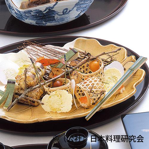 尼鯛巻繊焼、松茸挟み焼