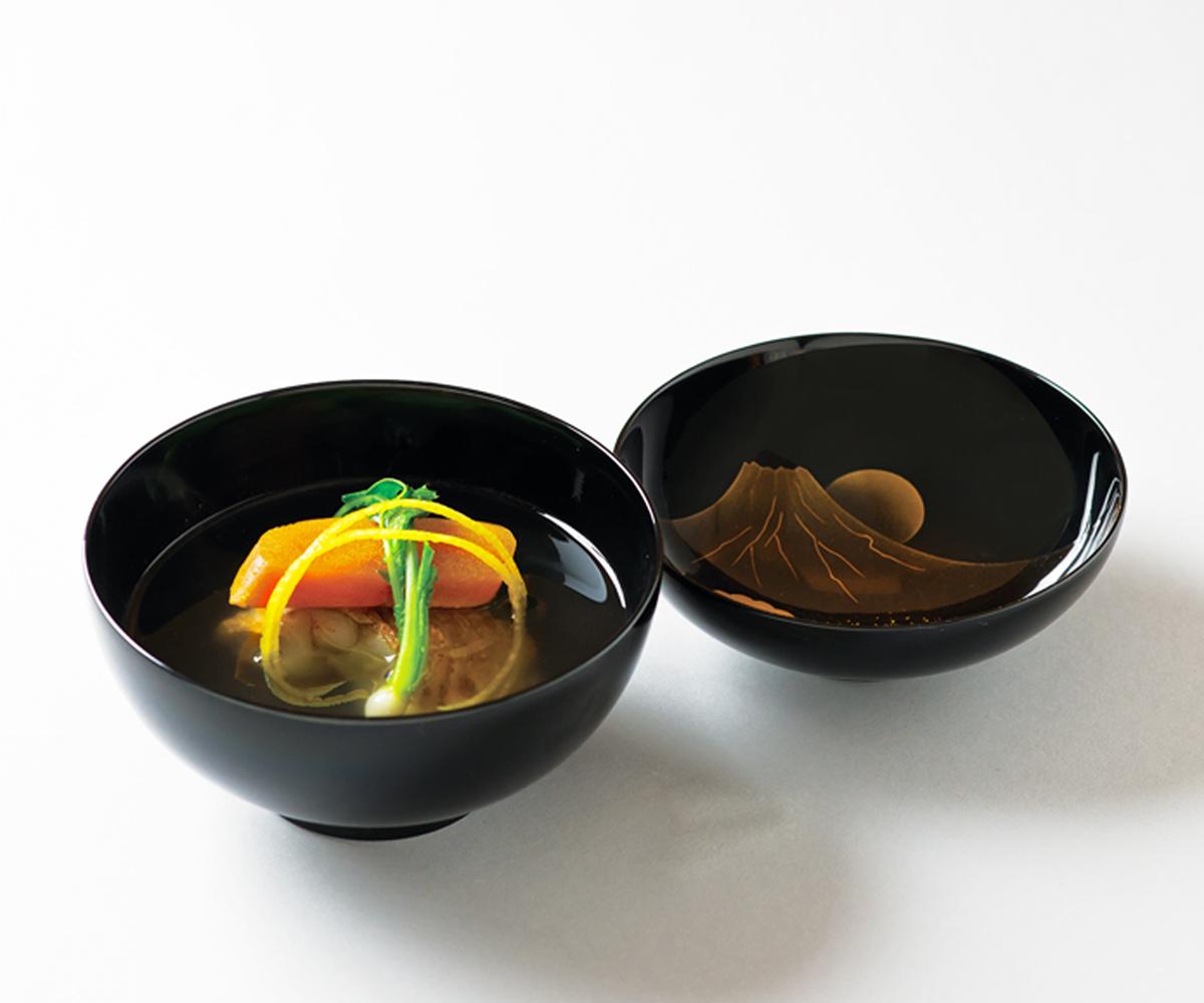 甘鯛・唐墨清汁仕立(唐墨、天・柚子)(Sample)