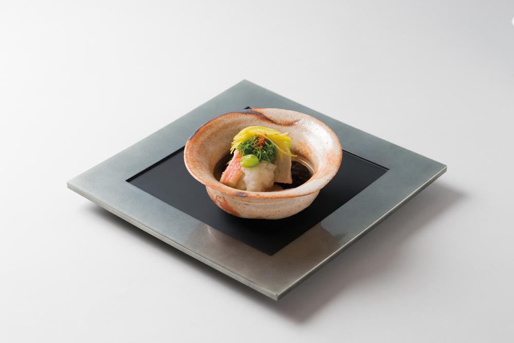 鰤かぶら煮(ずわい蟹、椎茸、蕪、粟麩、銀杏、九条葱、柚子)(Sample)