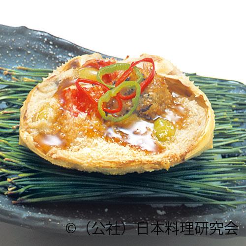 蟹甲羅焼、松茸、牛フィレ肉