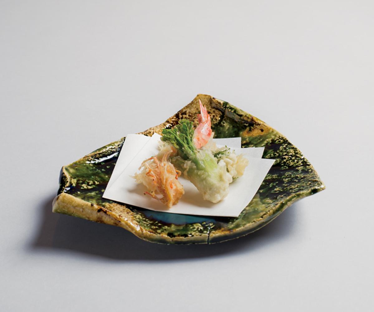 天婦羅三点盛り(中目黒・天雅)(sample)