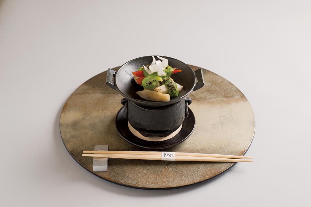 蛤・筍木の芽味噌焼(蚕豆、京人参、山独活)(Sample)