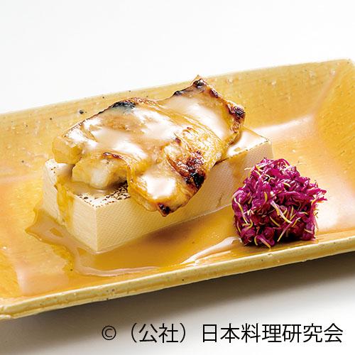 のど黒柚香味噌焼、木綿豆腐ステーキ