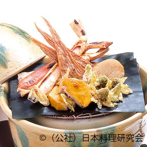 炭火焼、ずわい蟹、平貝酒盗焼