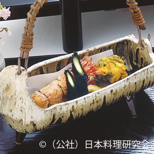 海老・天豆カダイフ揚