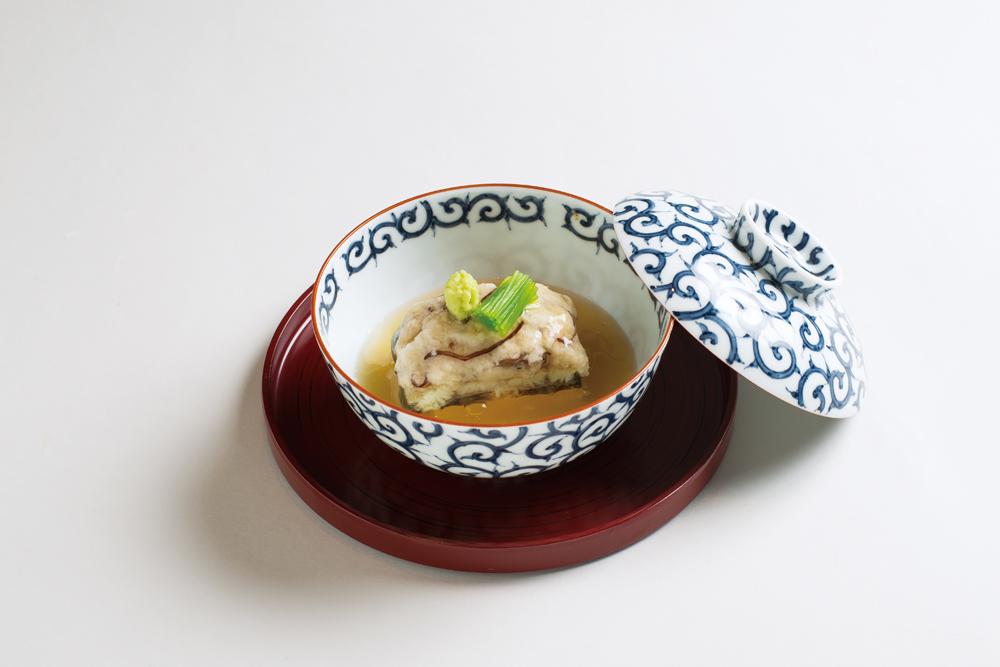 鰻蓮蒸し(蓮根、木耳、三つ葉、山葵)(Sample)
