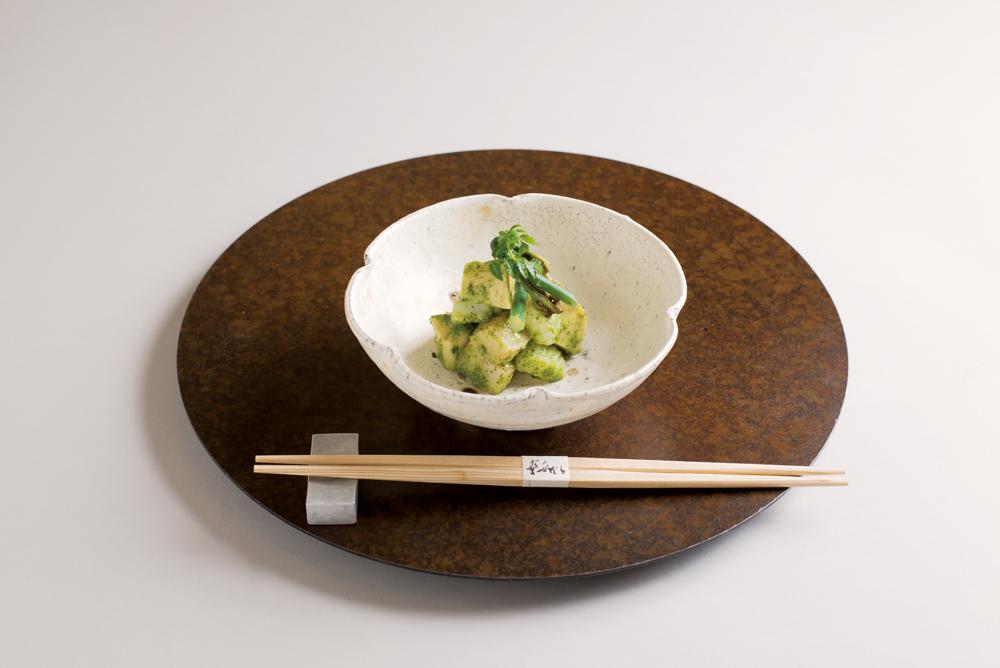 木の芽味噌和え(筍、平貝、障泥烏賊、蕨、木の芽)