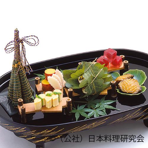 福子煎唐墨焼、粽寿司