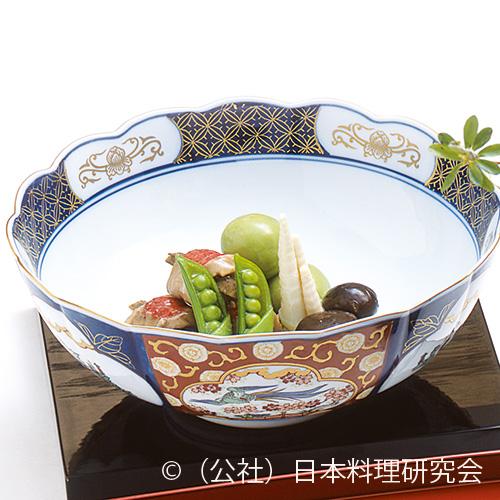豌豆豆饅頭、金目鯛、姫竹