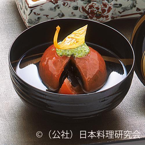 鋳込みトマト黒胡麻豆富