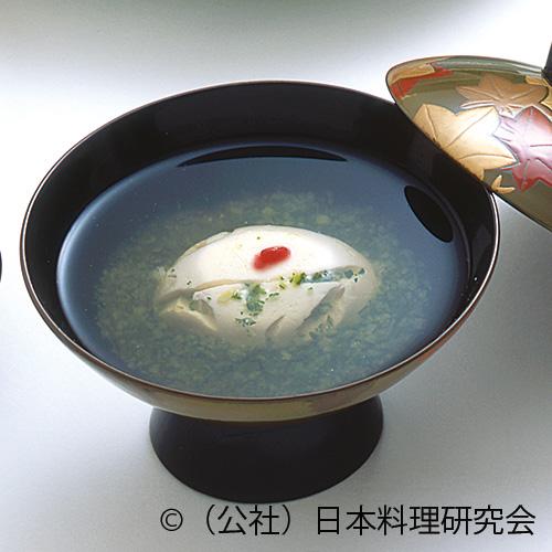 苔清水椀、雲丹豆腐