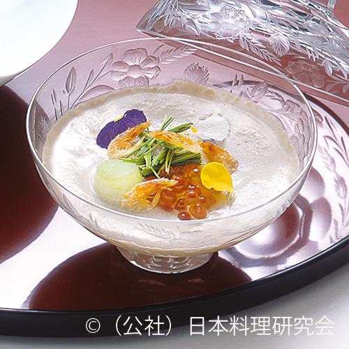 大浅蜊・茸冷製茶碗蒸し