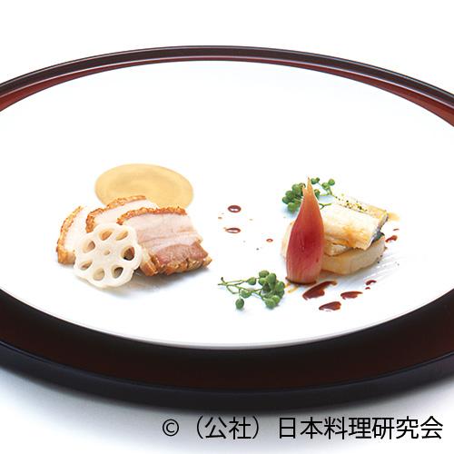 糠漬豚クリスピーロースト、大きな帆立・鰻オイル蒸し
