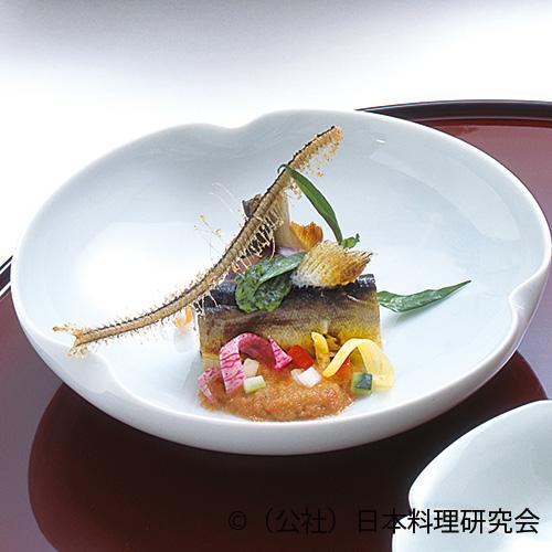 焼鮎・夏野菜サラダ