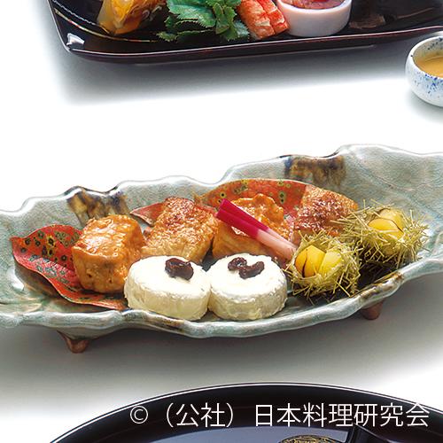 金目鯛雲丹焼、南部鶏山椒焼、大根チーズ焼