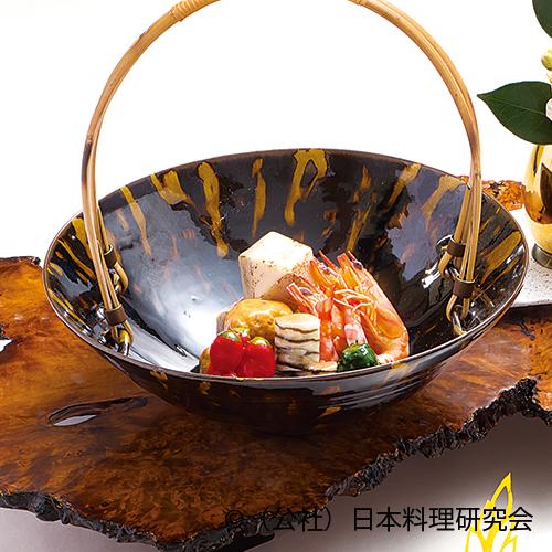海老芋含め煮、鱶鰭飛龍頭、海老芝煮、千段巻椎茸