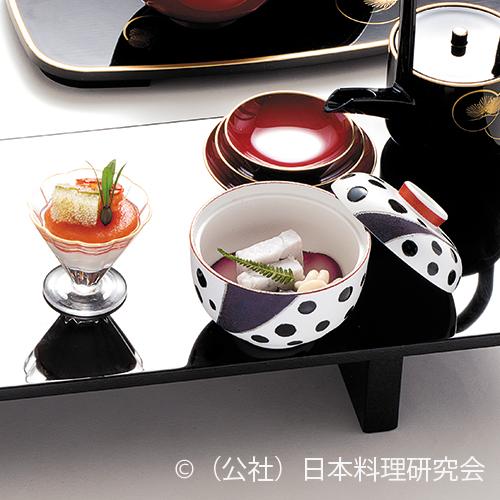 京人参・カリフラワームース、海鼠とろとろ煮