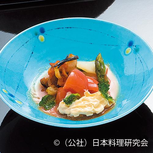 栄螺・フルーツトマト白和え