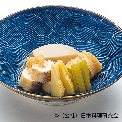 海老芋、鯛身巻白子、春キャベツ信田巻、筍土佐煮、蕗煎り煮
