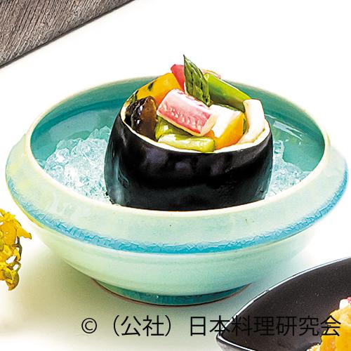 丸茄子釜、縮緬蛸、蟹