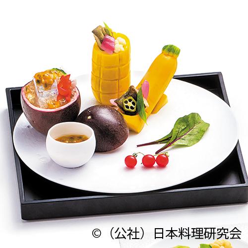 太刀魚香り酢掛け、鮎南蛮漬オレンジ風味