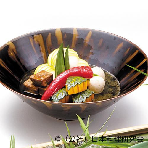 冬瓜饅頭、牛舌味噌煮