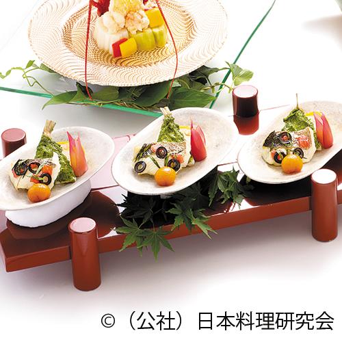 鱸香草焼、鱚新緑焼