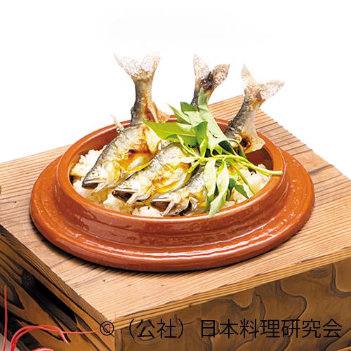 鮎釜炊き御飯