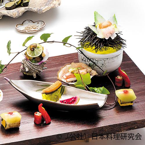 嶺岡豆富、冬瓜瓜野菜寿司、鰻・栄螺うざく、伏見唐辛子油焼、鰻唐揚子持、鰻酒蒸し