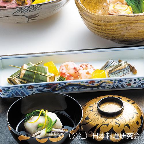 巻海老、鰻笹焼、初霜小鰭