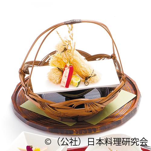 帆立貝豊年揚、甘長糝薯鋳込、白海老チーズ煎餅