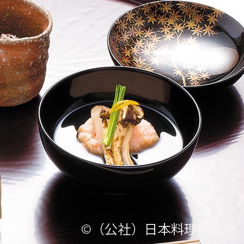 海老糝薯、焼松茸